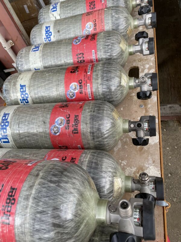 Drager 4500psi SCBA Tank 60 minute Carbon Wrapped 2009 MFG