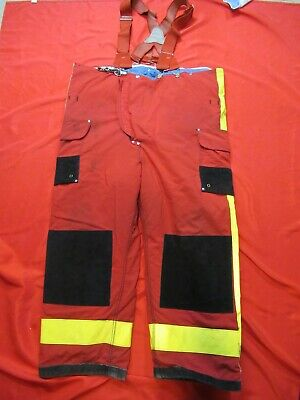 48 X 28 1994 Janesville Lion Firefighter Fire Pants Bunker Turnout Gear Vtg