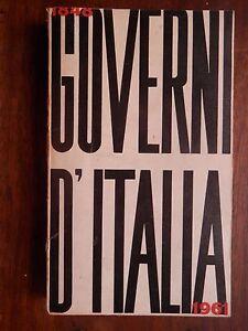 GOVERNI-D-ITALIA-1848-1961-A-cura-di-Francesco-Bartolotta-Bartolotta-libro-di