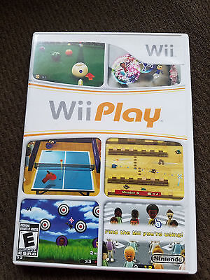 Wii PLAY NINTENDO (9 GAMES ON 1 DISC) Wii GAME DISC AND CASE SHOOTING PONG FISH