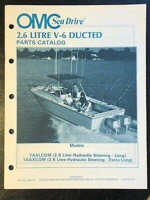 1985 OMC SEA DRIVE 2.6 LITRE V-6 DUCTED PARTS MANUAL Catalog #984113
