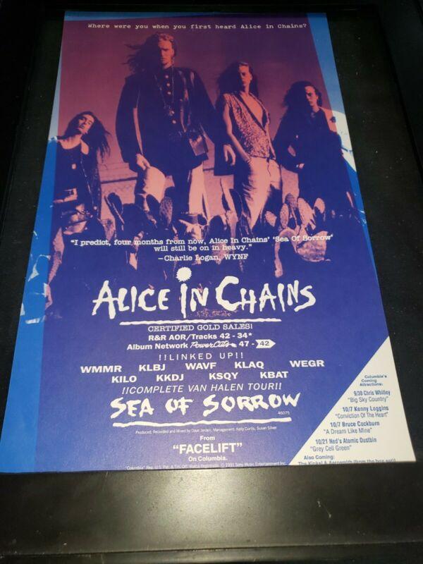 Alice In Chains Sea Of Sorrow Rare Original Radio Promo Poster Ad Framed! #3