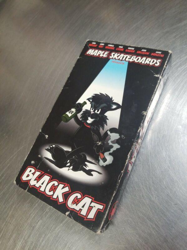 Maple Black Cat Skateboard VHS Skate Video Enjoi Jerry Hsu Barletta Tilt Mode