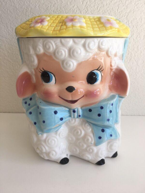 Vintage Lefton Brinnco Rubens Original Lamb Cookie Jar
