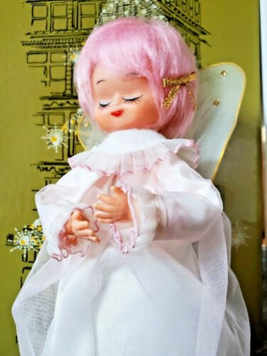 Vintage MCM Christmas Angel Doll Holiday Decoration - JAPAN - With BOX