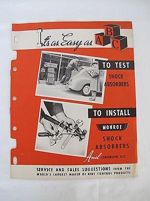 1949 Monroe Shock Absorber Instillation Service Station Repair Brochure Auto Car