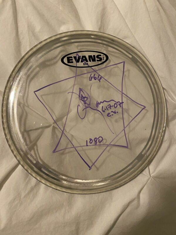Danny Carey Tool Autographed Concert Used Signed Drumhead With Artwork