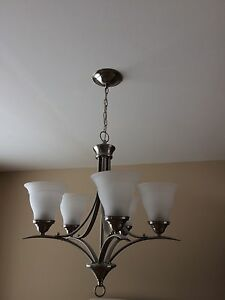 Brushed Silver Chandelier type Transitional