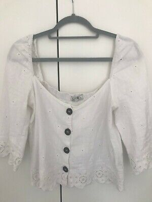 women's TRF zara collection blouse in white size M