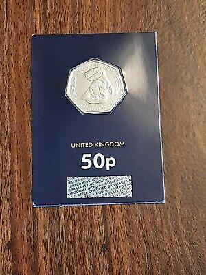 2020 Megalosaurus BU 50p Dinosaur Fifty Pence Coin In Blue Card, lot#37