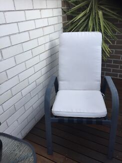 Outdoor chairs with cushions
