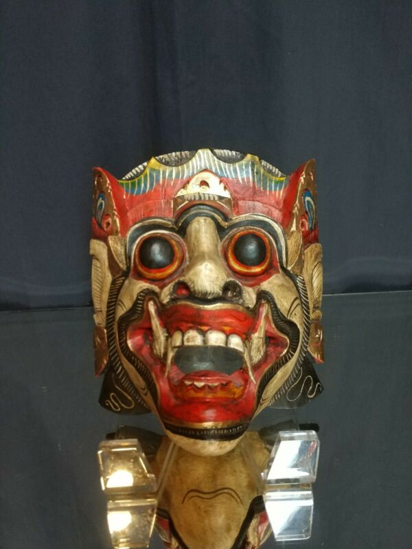 EXCEPTIONAL! Vintage Balinese Keket Barong Mask HAND CARVED Bali