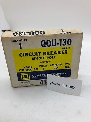Qou130 Square D 1pole 30amp 120v Circuit Breaker New In Box