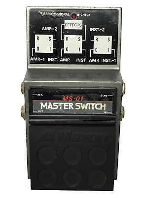 Maxon MS-01, Master Switch, Made In Japan, 1980s, Vintage Guitar Effect Pedal