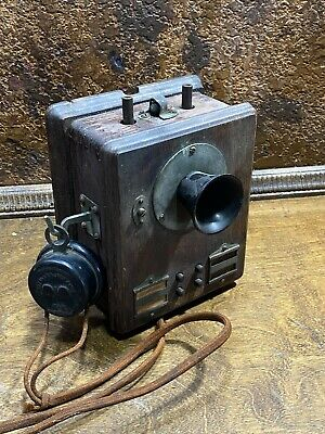 Antique 1914 Western Electric Wall Oak Wood Telephone / Vintage Phone ~ Complete