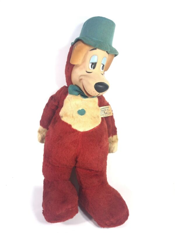 "Vintage Huckleberry Hound 17"" Plush Doll Knickerbocker Toy Company 1959"