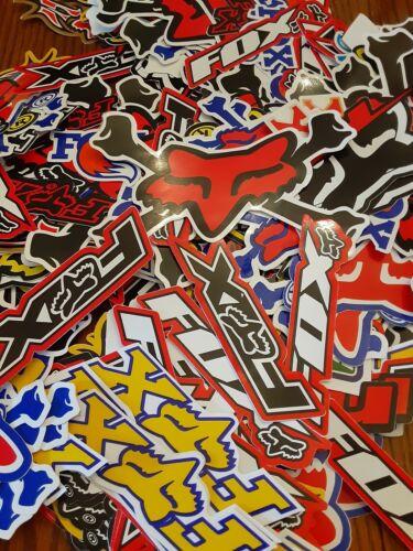 Lot Set of 10 Fox Racing style Stickers Decals Racing Motorcycle Motocross ATV