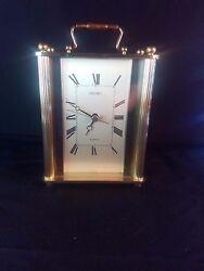 Vintage Seiko Clock | Desk Clock | Mantel Clock - Gold Finish QQZ164G-H Quartz