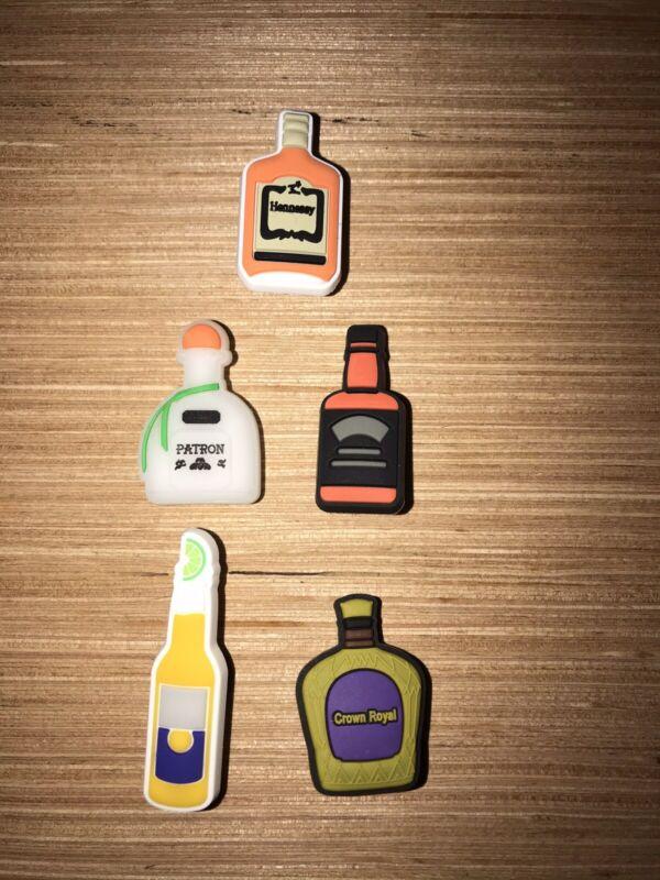 Liquor Beer Charms 5 Diff PCS! for Crocs, Clogs, Bracelets,Crafts