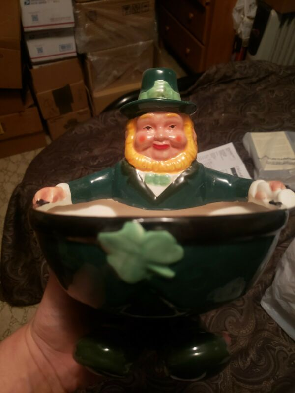 leprechaun pottery piece bowl