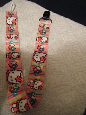 ADULT PACIFIER HOLDER / CLIP ,  NOT FOR INFANTS, HELLO KITTY 19