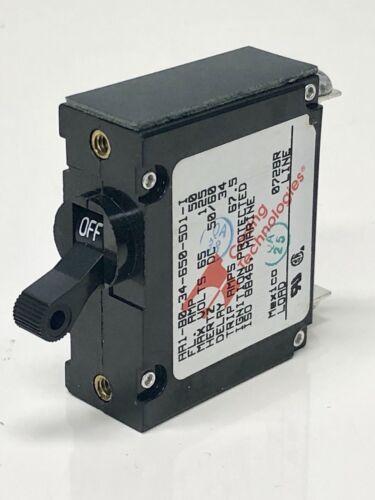 CARLING TECHNOLOGIES 50 AMP MARINE BOAT TOGGLE CIRCUIT BREAKER~Single Black
