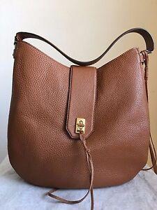 NWT-Authentic-Rebecca-Minkoff-Darren-Leather-Hobo-Handbag-Purse-Almond-295