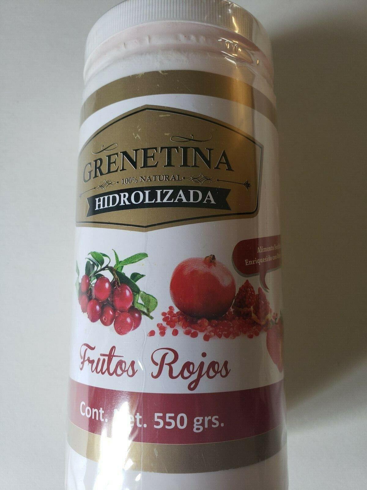 GRENETINA HIDROLIZADA FRUTOS ROJOS  550g 100% NATURAL WITH OMEGA 3,6 & 9