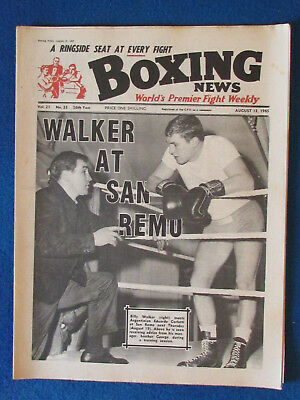 Boxing News Magazine   13 8 65   Billy Walker Cover