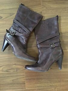 Women's genuine leather boots size 11