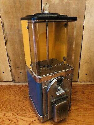 Vintage All Original Victor 1 One Cent Half Cabinet Gumball Machine w/ Key WORKS
