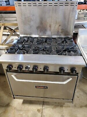 36 Reconditioned 6 Burner Range Natural Gas Commercial Oven Warranty Tri-star