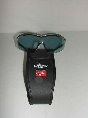 Callaway Golf B&L Ray Ban Wrap Sunglasses w/Case B0009 Gunmetal Sport Violet Len