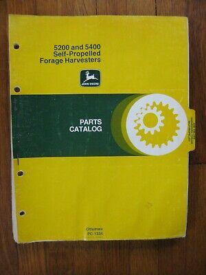 John Deere 5200 5400 Forage Harvester Parts Catalog Manual Original