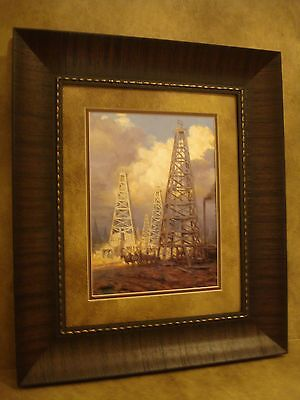 Gold Oil Derrick - ANDY THOMAS FRAMED