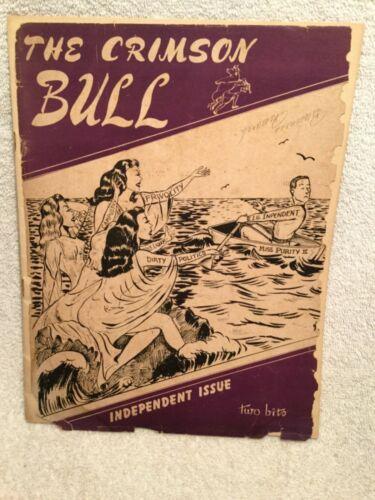 1948 Crimson Bull Student Magazine Indiana University W/Stories, Cartoons & Ads