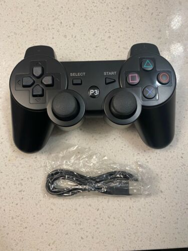 Black Wireless Sony Playstation 3 PS3 DualShock Controllers