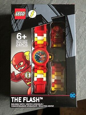 LEGO The Flash Minifigure Buildable Wrist Watch