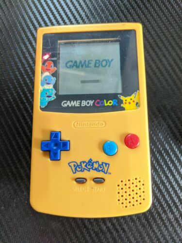 GameBoy Color Pokemon Pikachu Edition Nintendo System Yellow & Blue Game Boy GBC
