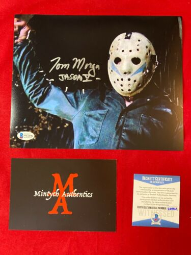 TOM MORGA AUTOGRAPHED SIGNED 8x10 PHOTO! FRIDAY THE 13TH! JASON VOORHEES BECKETT