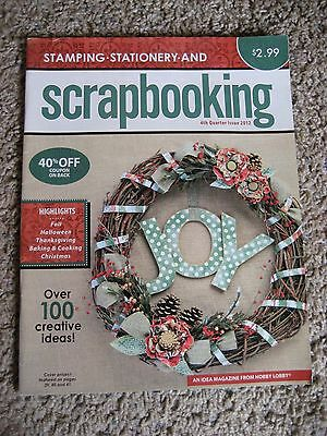 Stamping/Stationary/Scrapbooking, Magazine from Hobby Lobby, 4th Quarter 2012