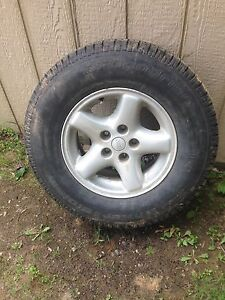 4 235/75R15 winter  tires on jeep tj rims