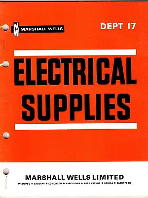 Marshall Wells Catalog Electrical Supplies 1968 From Store Master Catalog wolc6
