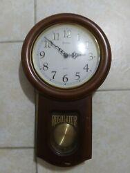 *BRAND NEW* Bulova Ashford II Chiming Regulator Wall Clock C3543