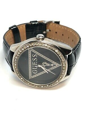 Guess Logo Ladies Stainless Steel Quartz Decorative Crystal Watch