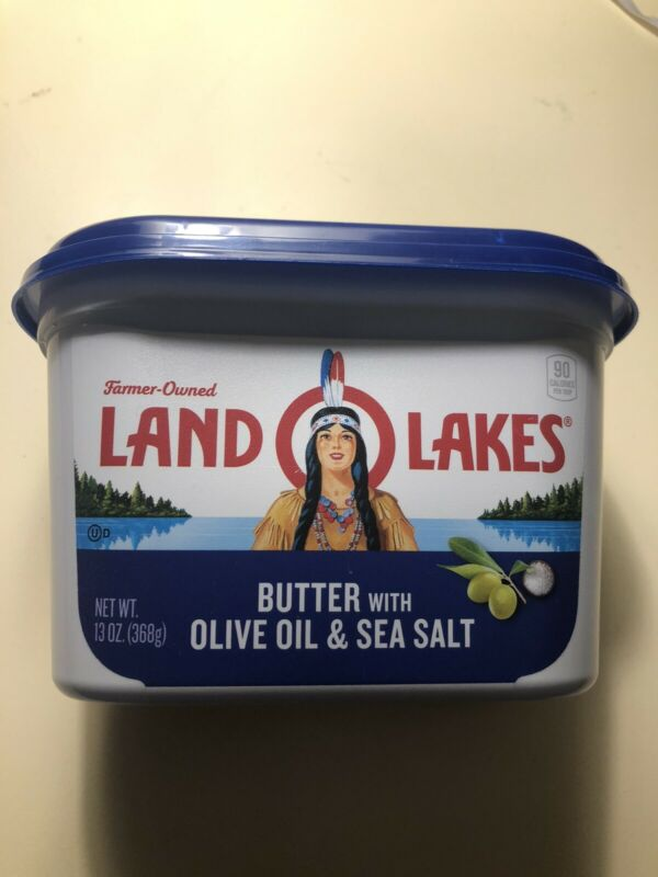Land O Lakes RETIRED LOGO whipped butter tub empty Native American Woman Mia