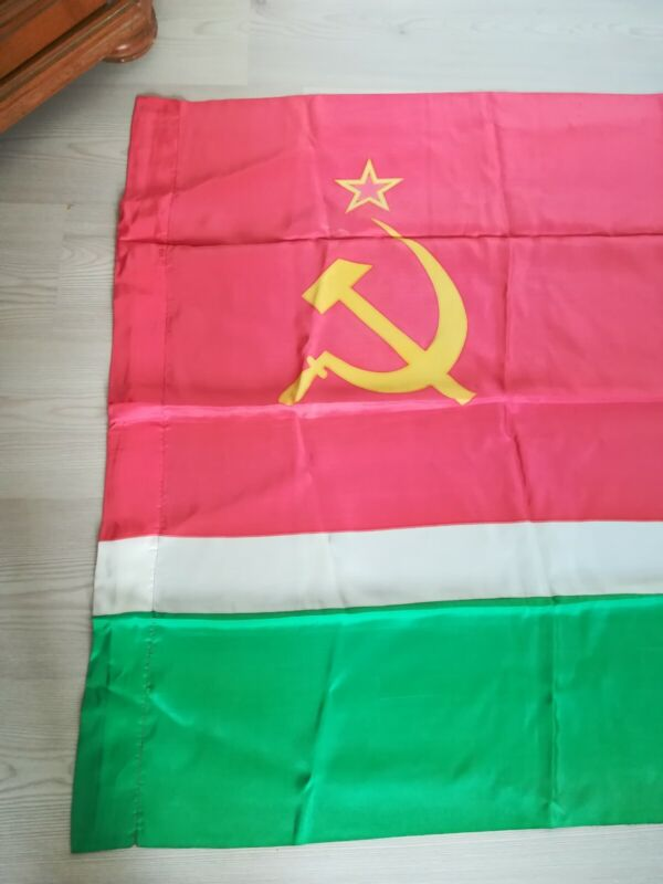 Vintage Original Flag of Lithuania Lithuanian Soviet Socialist Republic USSR