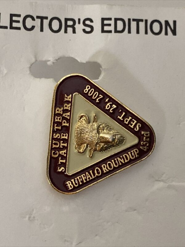 Custer State Park Annual Buffalo Roundup Collectors Pin 2008