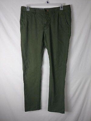 Superdry International Military Pants Size 34x32 (Actual 36x30.5) Green Slim Fit