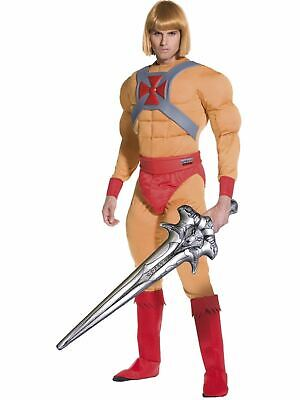 He-man Adult Costume (80s He-Man Masters of Universe Superhero Fancy Dress Costume Adult)